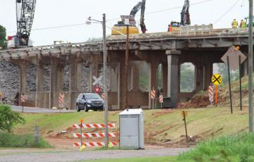 Demolition of Rock Island overpass