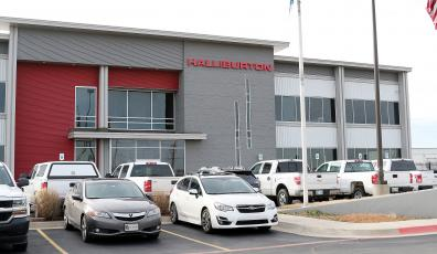 Halliburton office at El Reno the day it cut more than 800 jobs