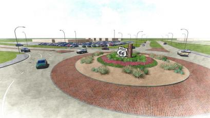 An artist rendering of the El Reno roundabout