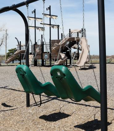 Empty playground equipment