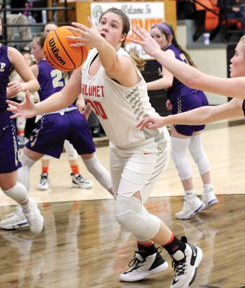 CHS girls basketball_Ray reaches out for rebound