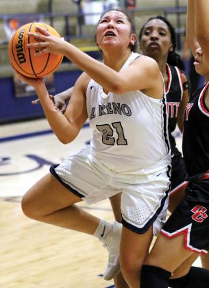 Sierra Sioux logged six defensive rebounds, three assists and two blocked shots