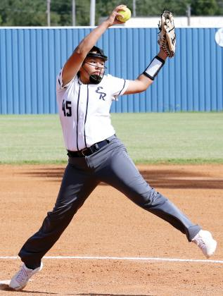 Miklyn Lumpmouth threw 17 innings over the four games of the Class 5A, Region 4 Championships