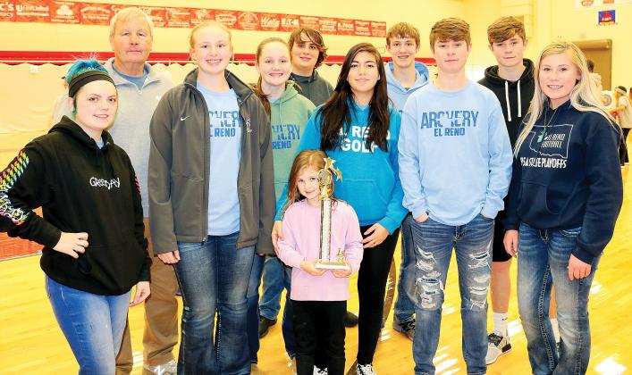 EHS archery_brought home 1st place trophy from North Rock Creek event