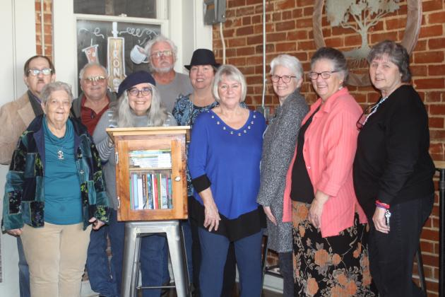 The Creative Quills with a Little Free Library