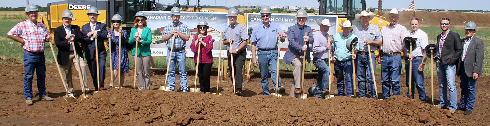 Groundbreaking for the new Canadian County Fairgrounds was celebrated last week