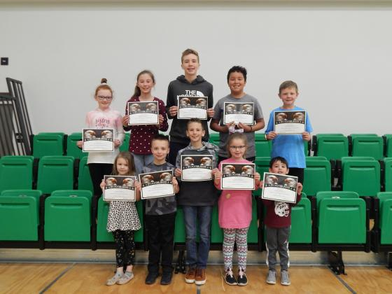 Maple School Citizenship Award winners