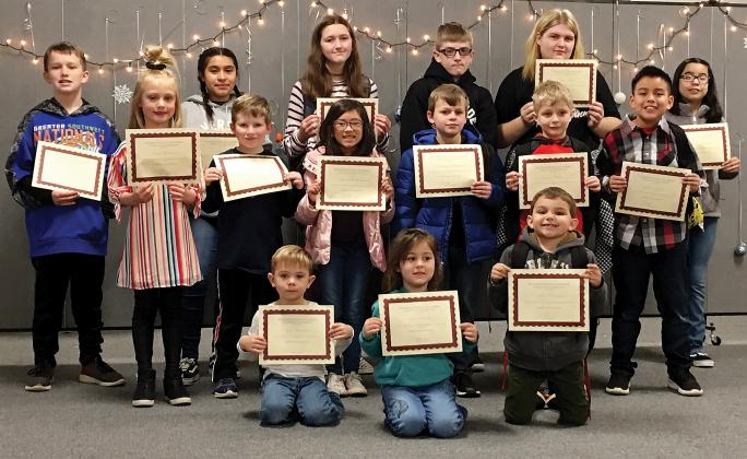 Riverside School December Citizens of the Month