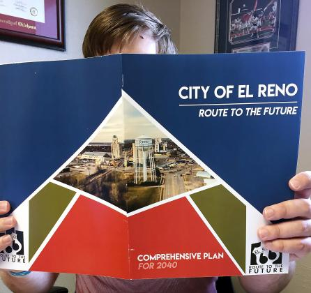 The cover of a document which details the City of El Reno's future plans