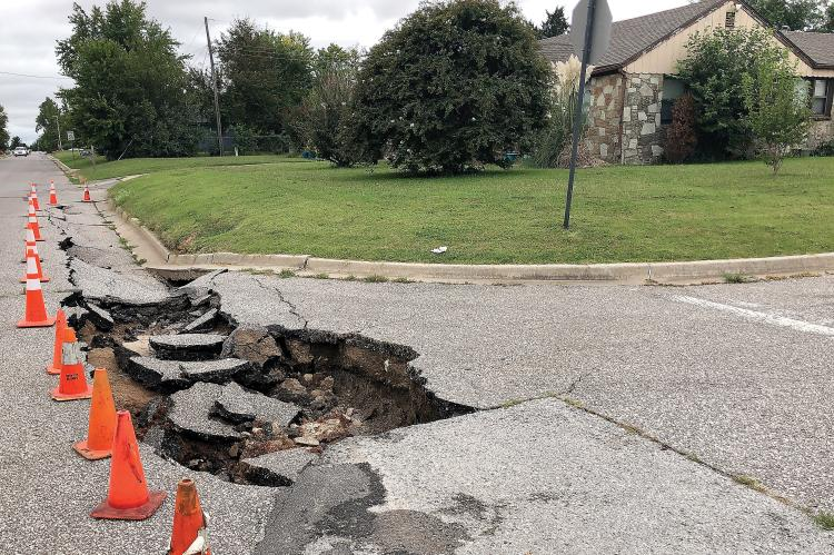 A section of Boynton Street collapsed recently