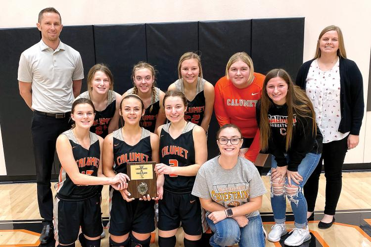 CHS's girls basketball team at the 2021 Alex Longhorns Classic