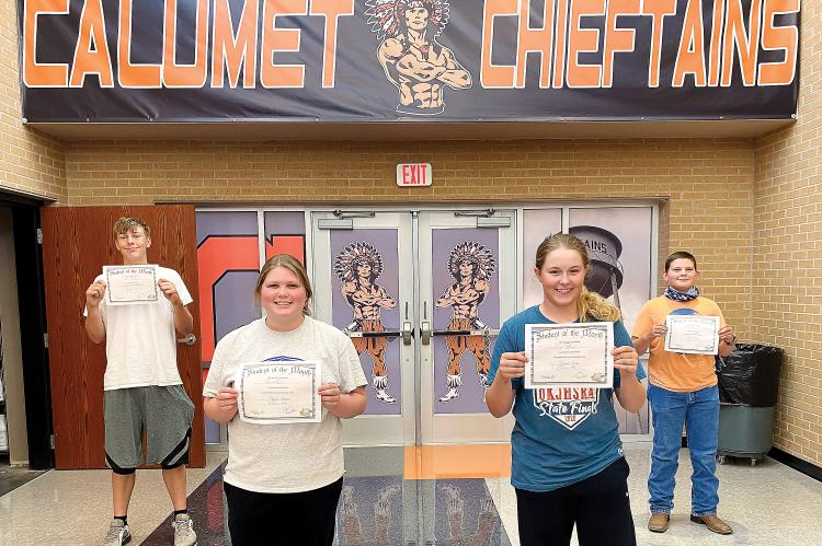 Calumet High School August 2020 Students of the Month