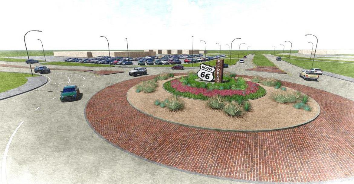 An artist rendering of the El Reno roundabout_slideshow